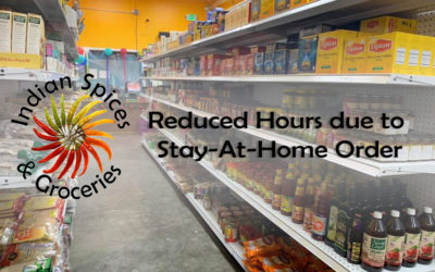 Indian Spices' Reduced Hours
